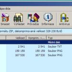 archiv se staženými daty